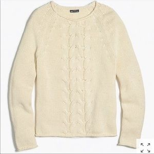 J. Crew Factory • Cable-Knit Rollneck Sweater
